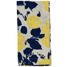 c62e3a192c52 Kate Spade New York Navyyellow Garden Rose Napkin (11 CAD) ❤ liked on  Polyvore