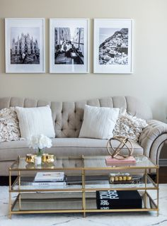 Welcome to my living room! Lets just say decor is not my strongest suit but I managed to finally create a space that I love. I went for a transitional style living room to… Cream And Gold Living Room, Beige Living Rooms, My Living Room, Living Room Decor, Living Room Wall Decor Ideas Above Couch, Small Living Room Ideas On A Budget, Home Decor, Art Decor, Wedding Decor