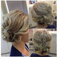 Messy updo by peggy moberly