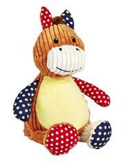 Harlequin Horse teddy personalise for Christmas Christening Birthday