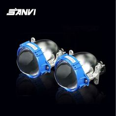 2017 SANVI Bi-LED Projector Lens Headlight 35W 6000K Hi Lo Beam Auto lighting Car-styling LED Headlight Autoparts