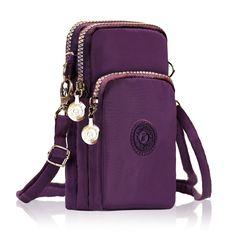 Three-Layer Storage Zipper Waterproof Shoulder Bag Wrist bag For iPhone 7 Plus 6sPlus 5.5 Inch Sale - Banggood Mobile