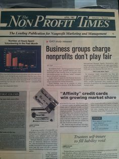 Here's a special #tbt picture: The first EVER issue of The NonProfit Times from April 1987. Talk about a blast from the past...