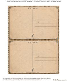 free postcard templates