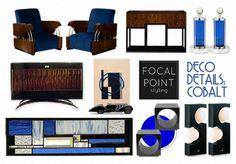 DECO DETAILS: COBALT by nyclq | Olioboard #ArtDeco #Gatsby #Moodboard