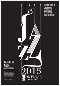 Il poster è stato realizzato in occasione di un festival relativo alla musica jazz.