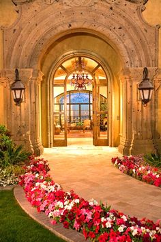 Grand front entrance..