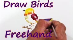 http://arts.owedia.com    You can draw birds with direct brush stocks See more about Watercolor Painting, Bird Art and Watercolor Flowers. https://www.facebook.com/owedia