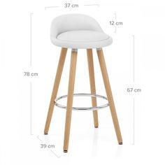 The Jive Wooden Stool White is a great contemporary design, combining faux leather and stylish wooden legs with a contrasting chrome footrest. Buy Bar Stools, Kitchen Stools, Swivel Bar Stools, Kitchen Sink, Kitchen Island, Kitchen Worktop Height, Chaise Bar, Adjustable Bar Stools, Wooden Stools