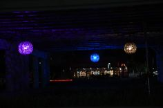 7 works of public art worth searching for in San Antonio - 'Ballroom Luminoso' by Joe O'Connell and Blessing Hancock (Theo and Malone Underpass at I-35)