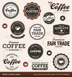 Vintage coffee labels - GraphicRiver Item for Sale