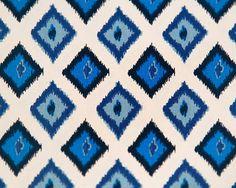 Home Dec Fabric Yardage - Carnival by Premier Prints - Ikat Diamonds - Blue, Aqua, Navy - 1 Yard. $11.75, via Etsy.