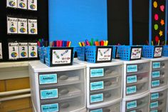 classroom organization - Ok I'd really like to be this organized. Maybe one day. :-)