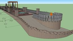 GeoStone Retaining Wall Systems & Hardscape Supply Top Display - 3D Warehouse Raised Patio, 3d Warehouse, Retaining Walls, Water Features, Pergola, Display, Building, Model, Top