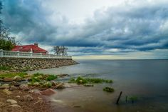 A storm approaches the shores of he Baltic at Peterhof, just outside Saint Petersburg, Russia. St Petersburg Russia, Saint Petersburg, Livingston, Cuba, The Outsiders, Travel Photography, Clouds, Sky, Mountains