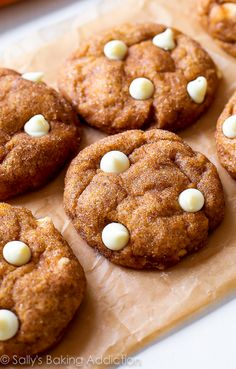 White Chocolate Pumpkin Snickerdoodles.