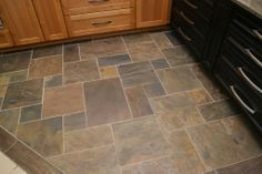 Slate Tile Floor by Woodstock Hardwood Flooring, LLC