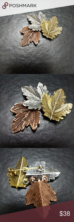 **Sale - Limited Time** Fall leaves pin Pretty multi tone brooch with fall leaves. Jewelry Brooches