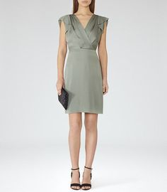 Cora Drape-Front Dress £179 – REISS | See more on http://www.youmeantheworldtome.co.uk/saturday-shopping-edit-be-our-guest-march-15/