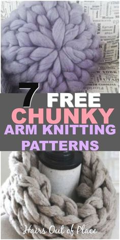 Arm Knitting Tutorial for 7 Free Chunky Knit Yarn Projects 7 free chunky knitting patterns that are great arm knitting projects for beginners. Whether you want to learn how to make a chunky knit. Arm Knitting Tutorial, Free Chunky Knitting Patterns, Free Knitting, Knitting Scarves, Knitting Ideas, Yarn For Arm Knitting, Knitting Humor, Beginner Knitting Projects, Knitting For Beginners