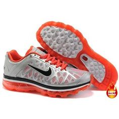 new arrival 8d6d3 037d2 Nike Wmns Air Max 2011 Mesh silver orange running shoes for sale