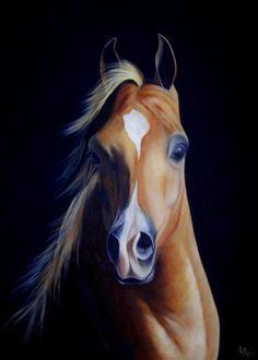 caballo al óleo sobre lienzo