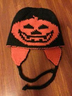(6) Name: 'Knitting : Double Knit Pumpkin Hat