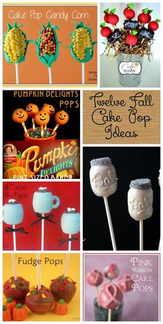 Twelve Fall Cake Pops ideas to get you ready for the season!