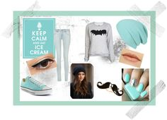 """""""Ice Blue"""" by jane-10 ❤ liked on Polyvore"""