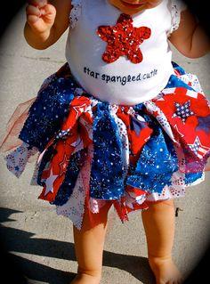 4th of July, Baby Girl, Scrap Tutu