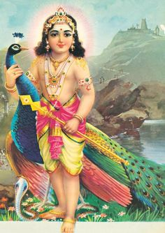 LORD MURUGA -the Hindu god of war and victory, worshiped primarily in areas with Tamil influences, especially South India - In Karnataka and Andhra Pradesh, He is known as Subrahmanya (Kannada: ಸುಬ್ರಹ್ಮಣ್ಯ) (Telugu: సుబ్రహ్మణ్య) with a temple at Kukke Subramanya known for Sarpa shanti rites dedicated to Him. In Bengal, he is popular by the name Kartikeya (meaning 'son of Krittika') respectively.