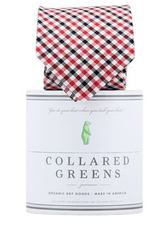 The Mitchell Tie in Red/Black by Collared Greens