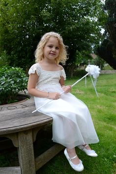 Flowergirl with her fairy wand.