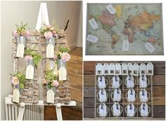 Easel and floral table plan