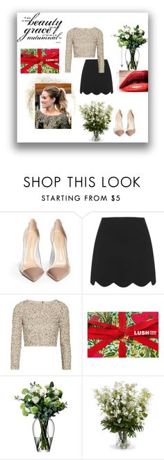 """""""beautiful grace"""" by grachyv on Polyvore featuring Gianvito Rossi, Topshop, Alice + Olivia, LSA International, New Growth Designs, Christmas and gif"""