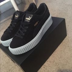 Fenty x Puma Collection - Rihanna Fenty Creeper PM Classic Basket Platform  Casual Shoes  Fenty f7bab4369