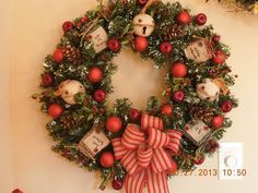 Country Christmas Wreaths | Primitive Country Christmas Apple Wreath 25""