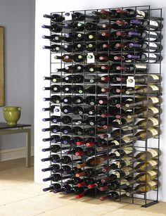 Wine Enthusiast 144-Bottle Black Tie Grid|Stage Stores