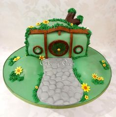 Hobbit hole cake! Chocolate mud with spearmint buttercream and chocolate ganache!