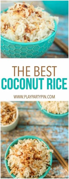 This coconut rice re