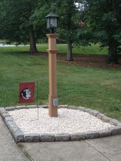 New England Arbors Burton 72 in. Composite Lamp Post at The Home Depot - Mobile Driveway Lighting, Patio Lighting, Mini Zen Garden, Outdoor Projects, Outdoor Decor, Fire Pit Designs, House Color Schemes, Yard Care, Wood Post