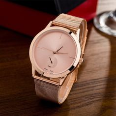 Buy 2018 New Womens Fashion Female Clocks Women Luxury Quartz Watch Rose Gold Stainless Steel Dress Watches Montre Femme Relojes Mujer Uhren Damen Christmas Gift at Wish - Shopping Made Fun Stylish Watches, Watches For Men, Women's Watches, Female Watches, Luxury Watches, Geneva Watches, Elegant Watches, Rose Gold Watches, Minimalist Fashion