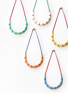 The Pencil Collection necklaces by Karina Jean via thedesignfiles.net