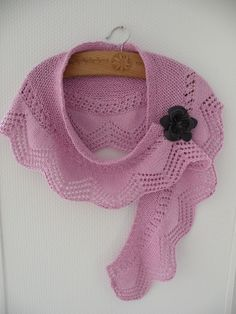 Marshmallow Shawlette - from free pattern here: http://www.ravelry.com/patterns/library/cassis-shawlette
