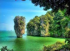 A nail shaped island in Thailand.