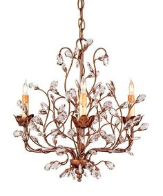 Currey and Company Crystal Bud Chandelier small