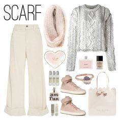 """Pastel Scarf Style"" by deepwinter ❤ liked on Polyvore featuring Korres, Sirciam, Filles à papa, The Seafarer, Ted Baker, Butter London, Le Labo, Prada, ban.do and Kate Spade"