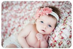 Set- Ruffle Bum Baby Bloomer and Inspired Vintage Shabby Chic Frayed Flower Pearl Center on Lace Stretch Headband-
