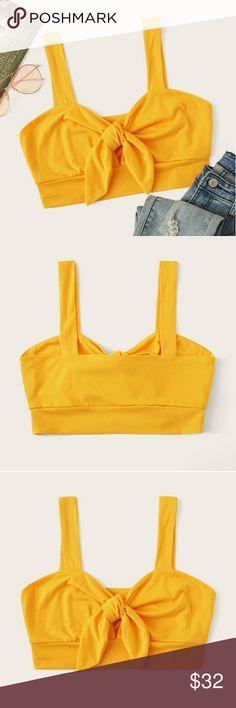 NWT Gap Pin Tucked Ruffle Bib Cami Blouse Top  2XL  Yellow