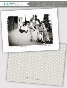 Grunge Frame Holiday Photo Card